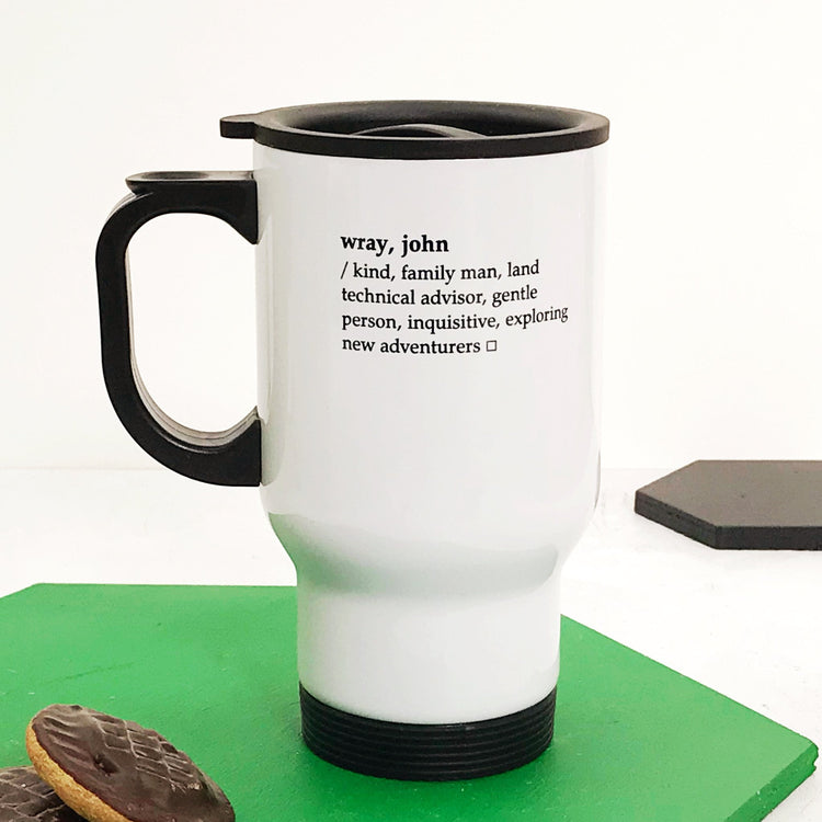 Dictionary Definition Travel Mug