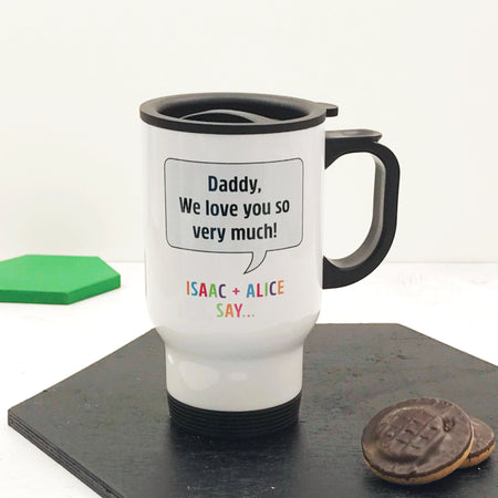 Personalised Speech Bubble Travel Mug
