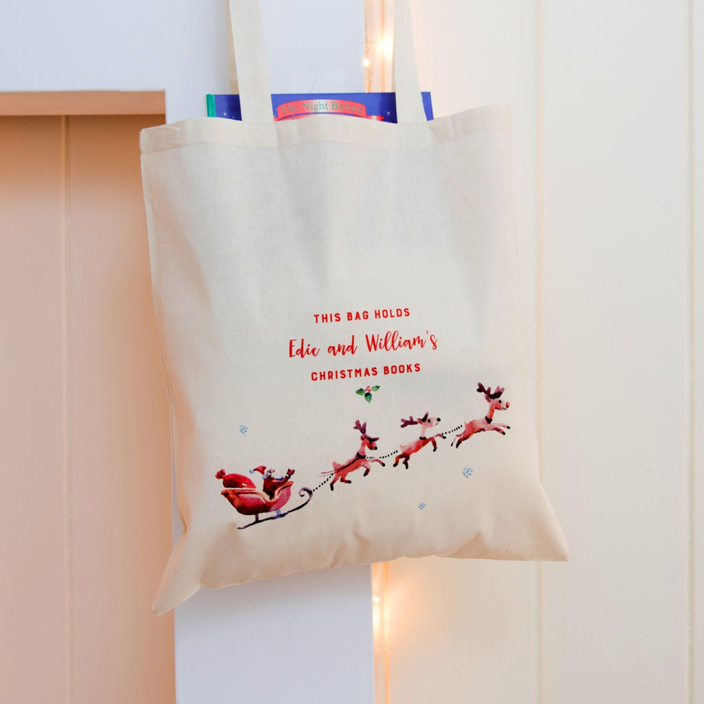 Personalised Christmas Book Bag