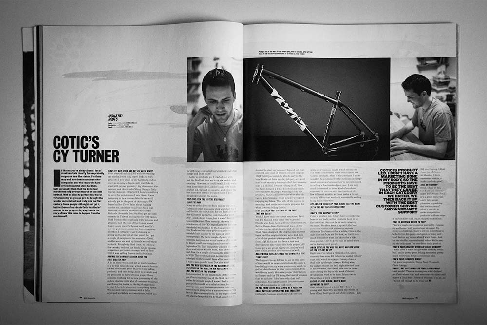Dirt Magazine Issue 98 - Cy Turner from Cotic