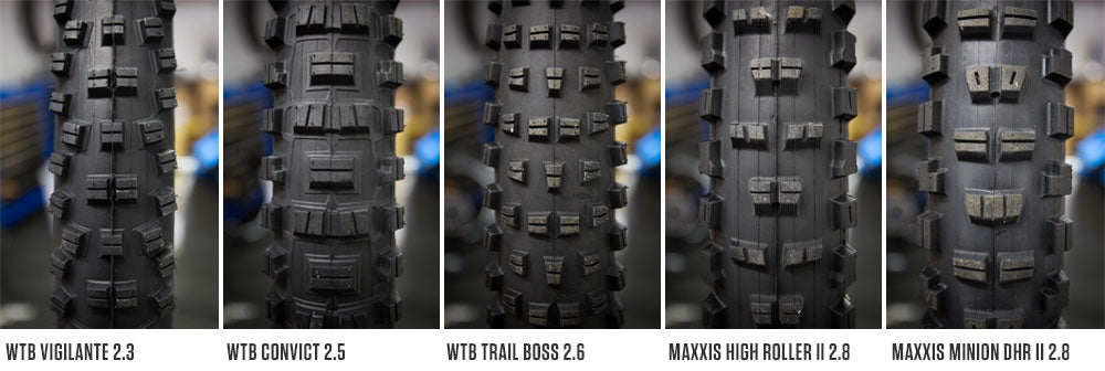 WTB & Maxxis Tyre Comparison