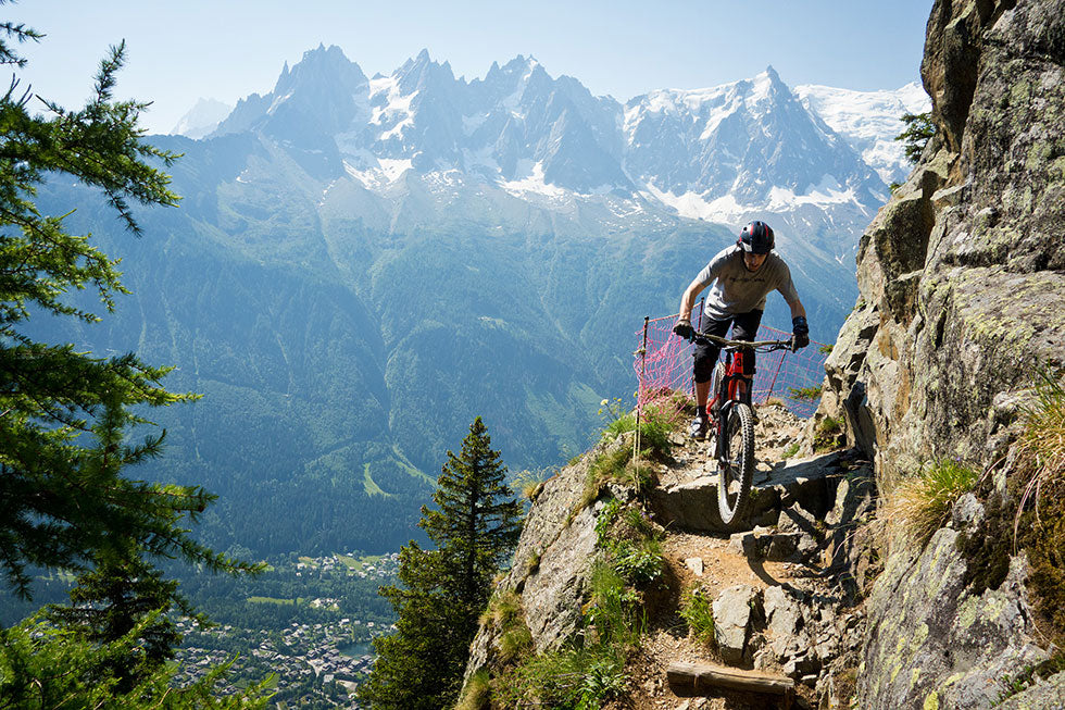 Graham Pinkerton Riding in Chamonix
