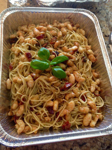 Shrimp with Spaghetti Pesto