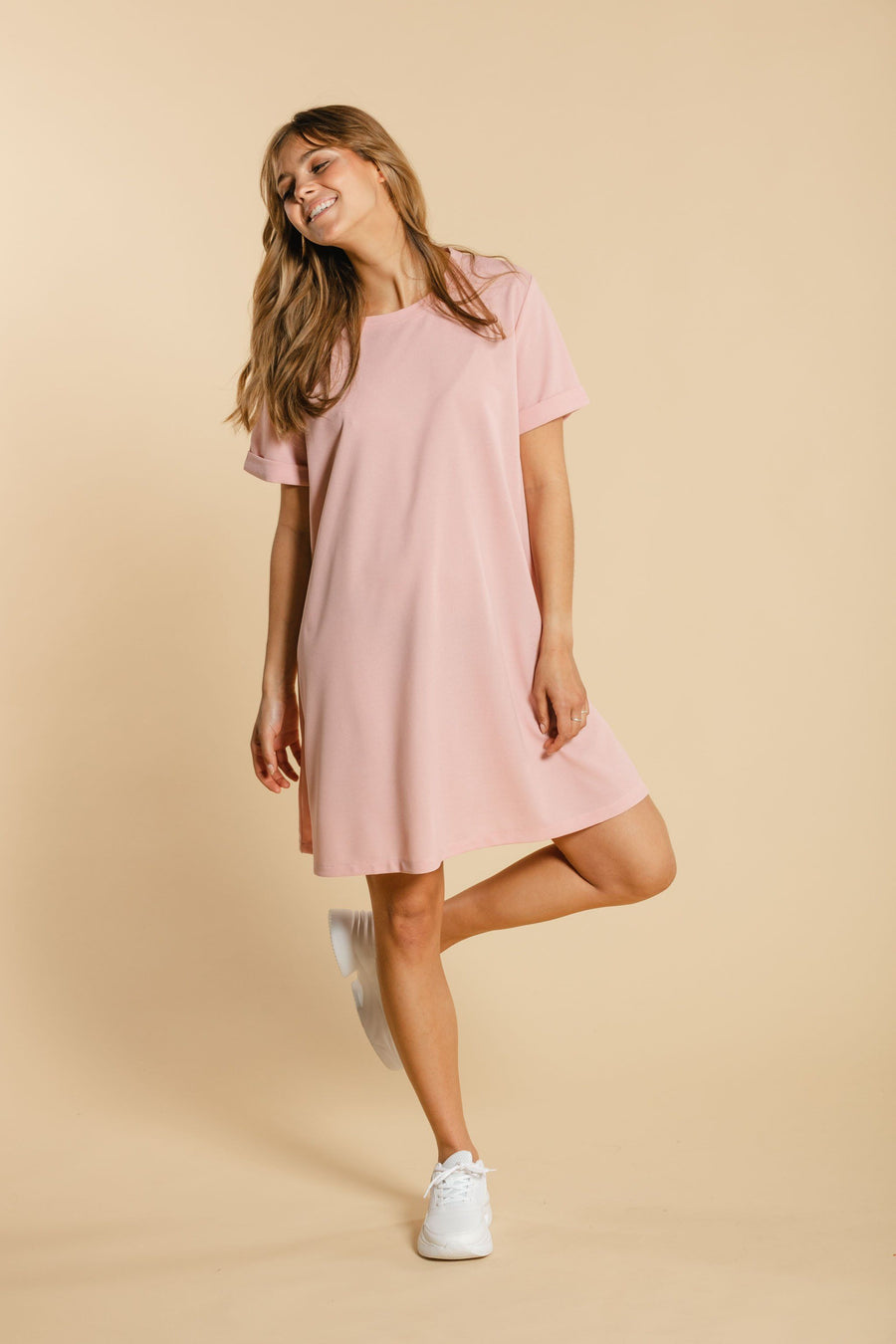 Robe T-shirt rose