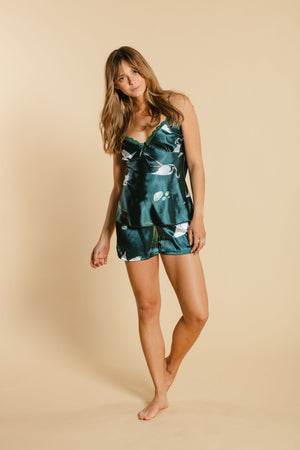 2 pieces camisole pajamas - Green WOMANCE