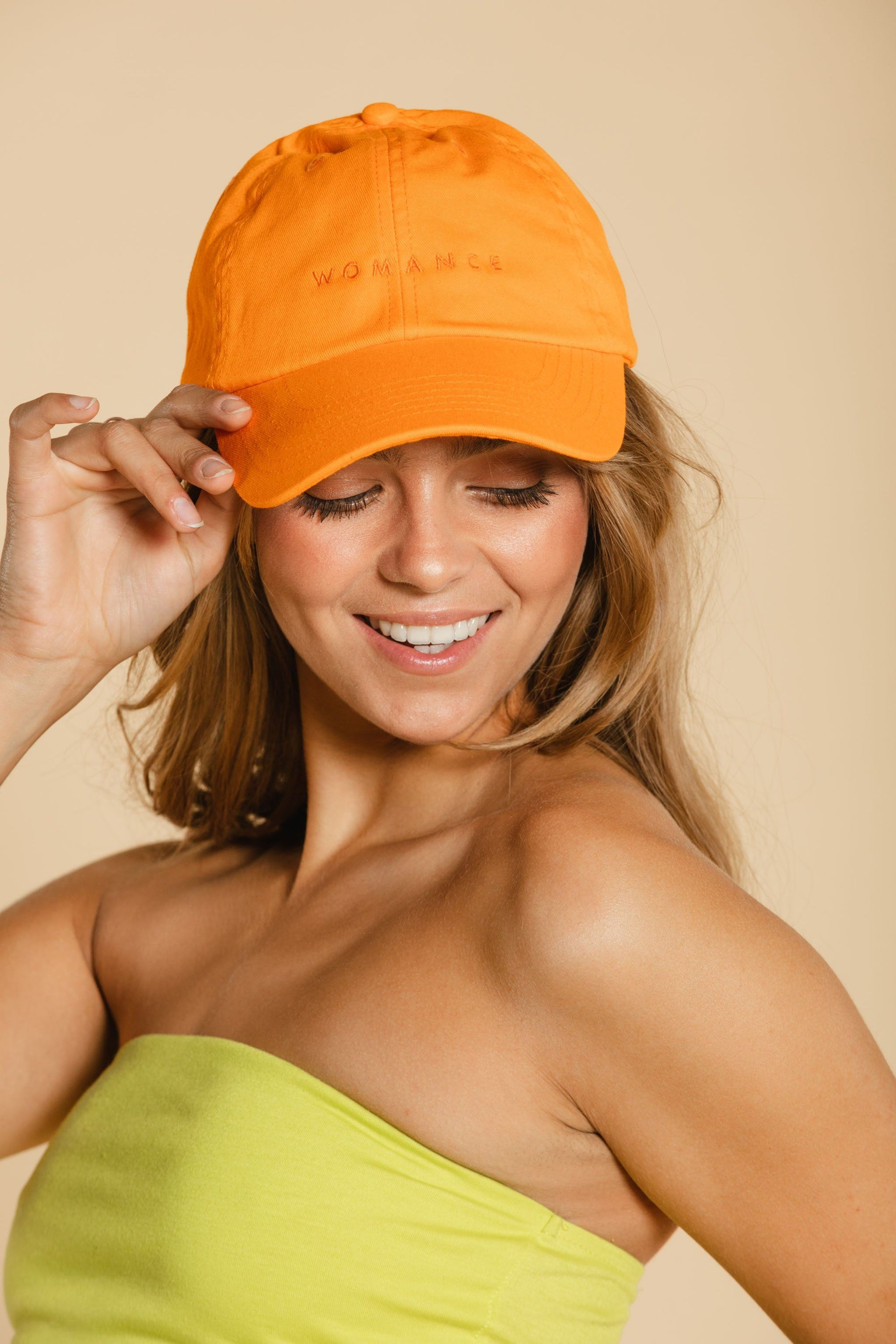Casquette - Orange Casquette WOMANCE - Distribution