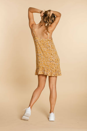 Short dress - Yellow