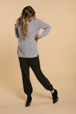 Long knit sweater - Gray