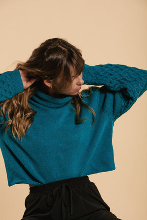 Short sweater - Turquoise