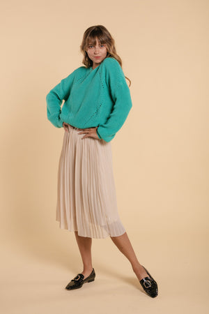 Accordion skirt - Cream