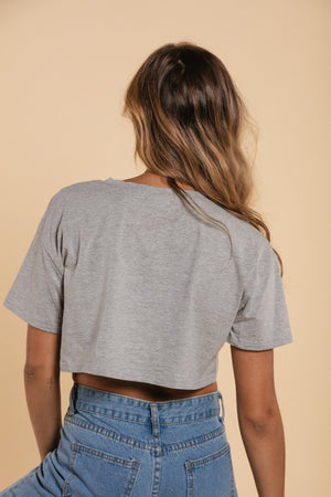 T-Shirt crop top - Gray