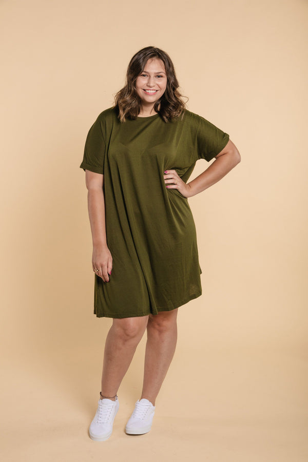 T-Shirt Dress - Khaki