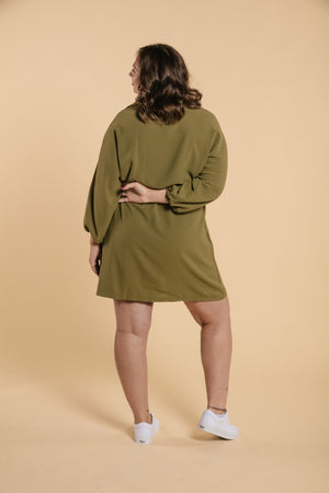 Robe à collet chemise - Verte WOMANCE CURVES