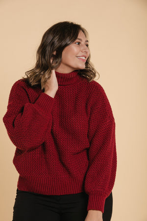 Knitted sweater - Burgundy