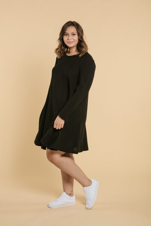 Round Neck Dress - Black