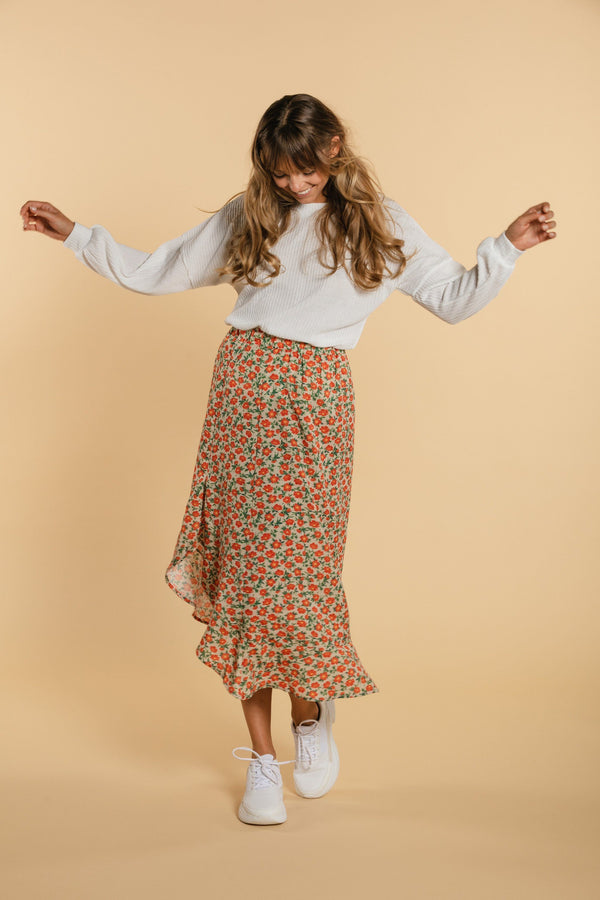 Flower skirt - Orange