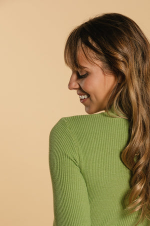 High neck sweater - Pale green WOMANCE