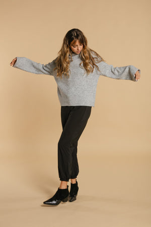 Wide Sleeve Sweater - Gray