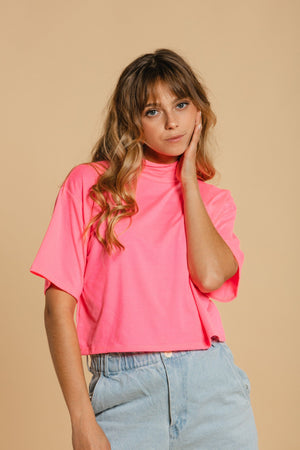 Short Sweater - Neon Pink