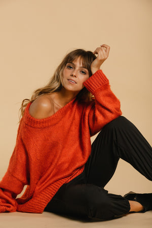 Oversized sweater - Orange