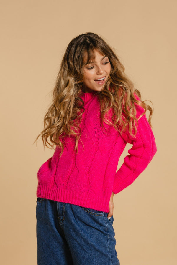 Knitted sweater - Pink
