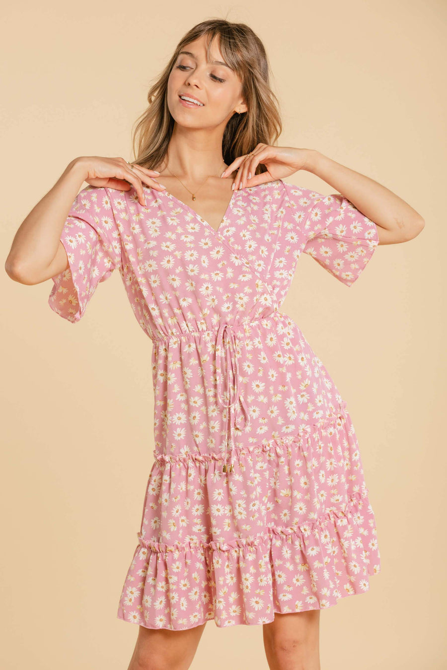 Robe à marguerites - Rose WOMANCE