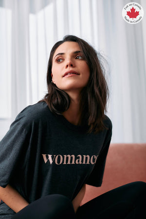T-shirt oversize - Womance Chandail WOMANCE - Atelier L Gris