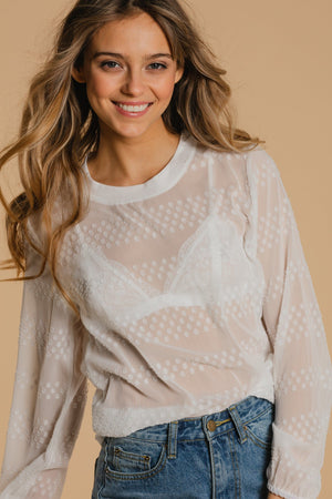 Sweater / blouse - White