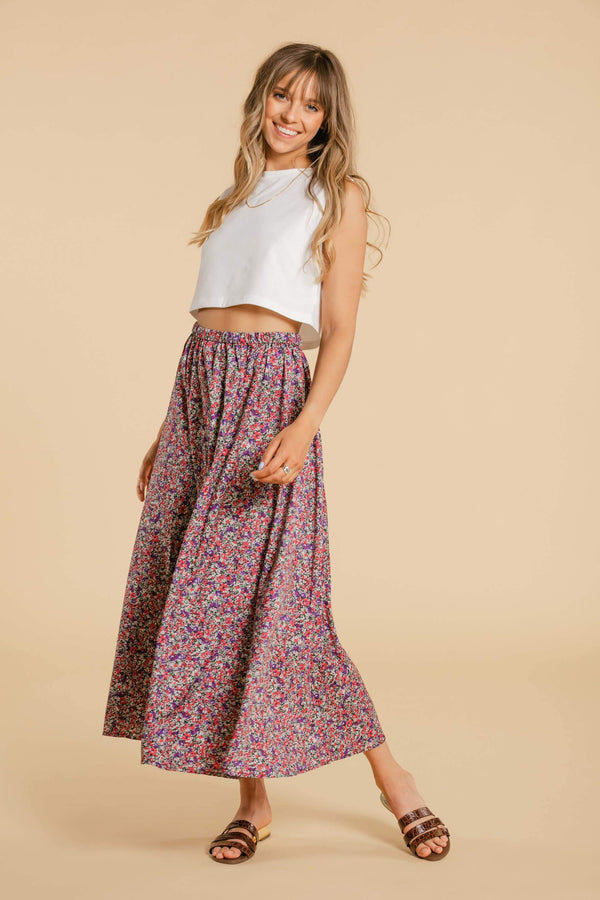 Long floral skirt WOMANCE