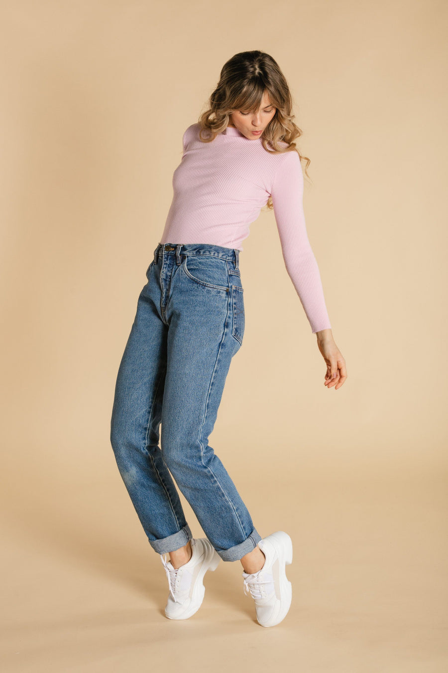 High neck sweater - Pale pink