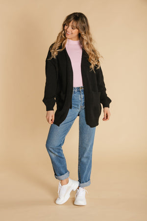 Cardigan long - Noir
