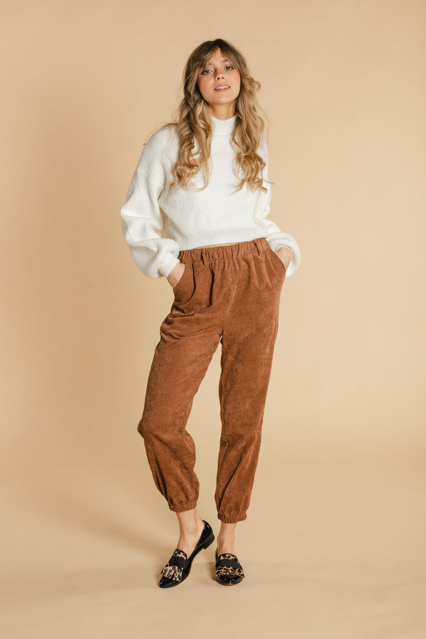 Corduroy pants - Brown