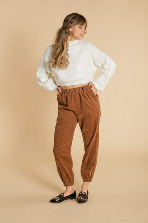 Corduroy pants - Brown WOMANCE