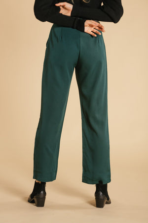 Pants with pockets - Emerald WOMANCE