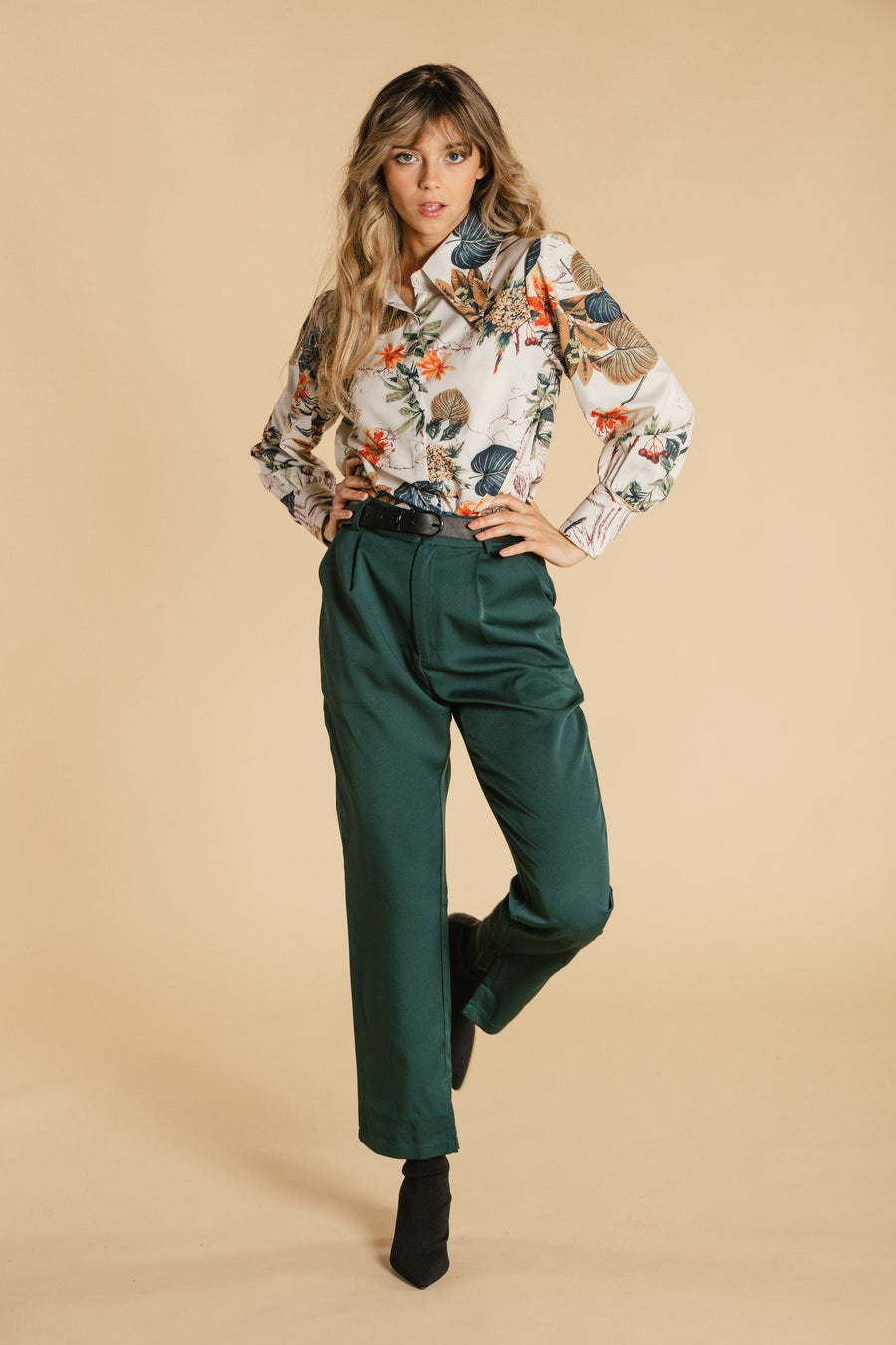 Pants with pockets - Emerald