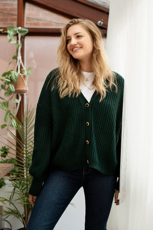 Cardigan AY435 Chandail WOMANCE - Atelier XS Vert forêt