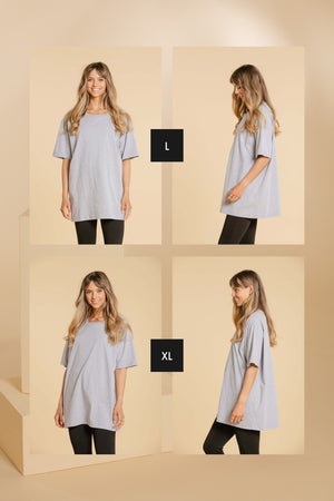 T-shirt oversize - Gris pâle Chandail WOMANCE - Distribution