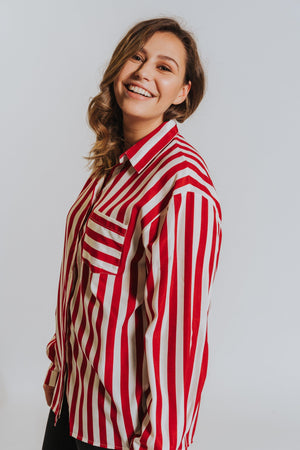WOMANCE CURVES striped shirt