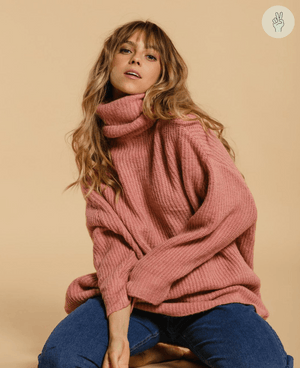 Pull oversize en maille - Sorbet (Seconde Main) Recurate