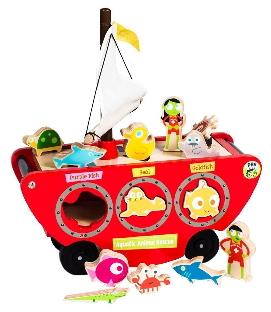 PBS Kids: Aquatic Animal Rescue Cruiser Matching Toy & Vehicle Play Set