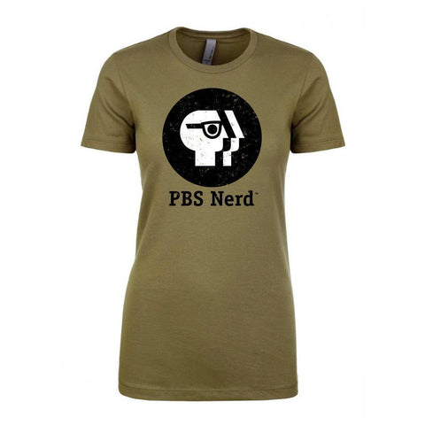Ladies' Olive PBS Nerd Short Sleeve T-Shirt