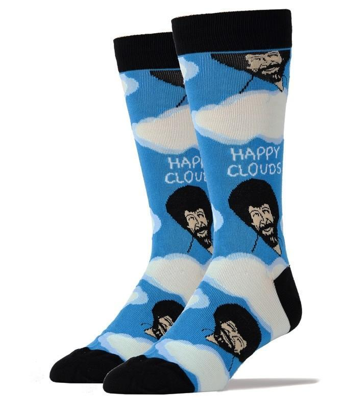 Men's Bob Ross Happy Clouds Socks