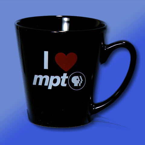 I Heart MPT Black Latte Mug