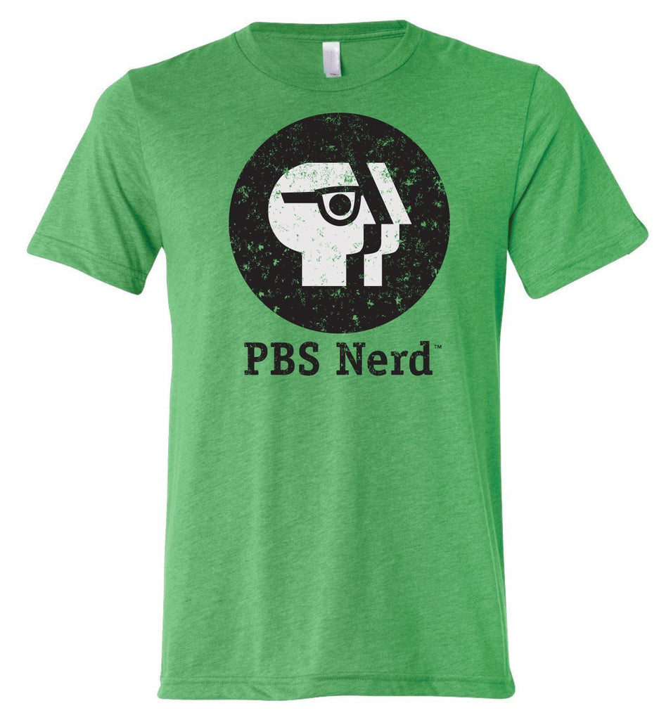 Men's Green PBS Nerd Short Sleeve T-Shirt