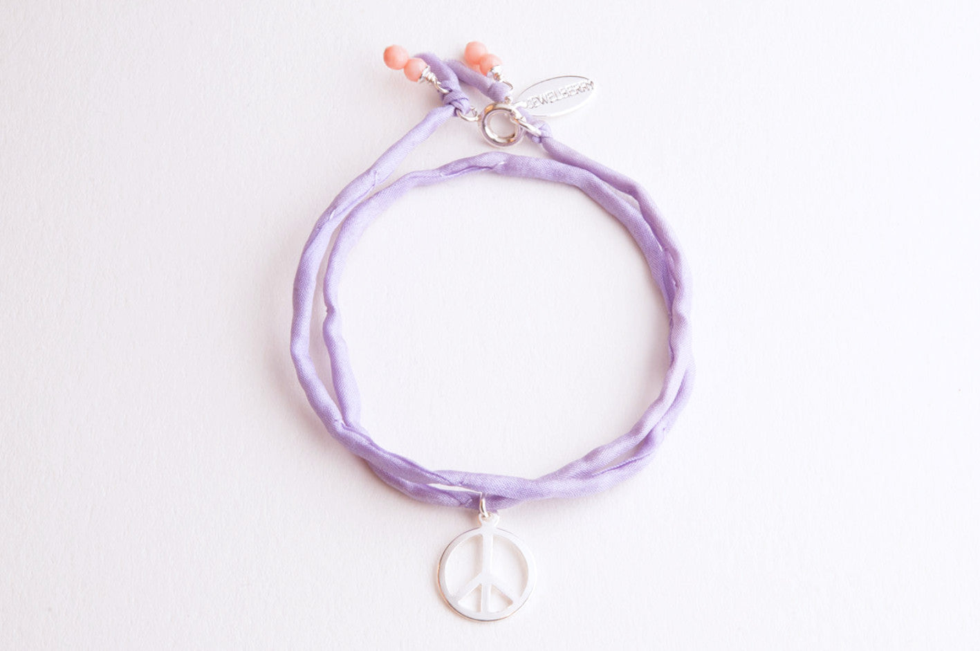 Charity Armband Jewelberry for Almaterra PEACE versilbert