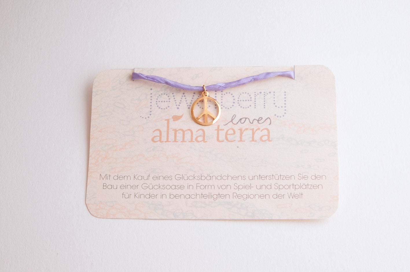 Charity Armband Jewelberry for Almaterra PEACE vergoldet