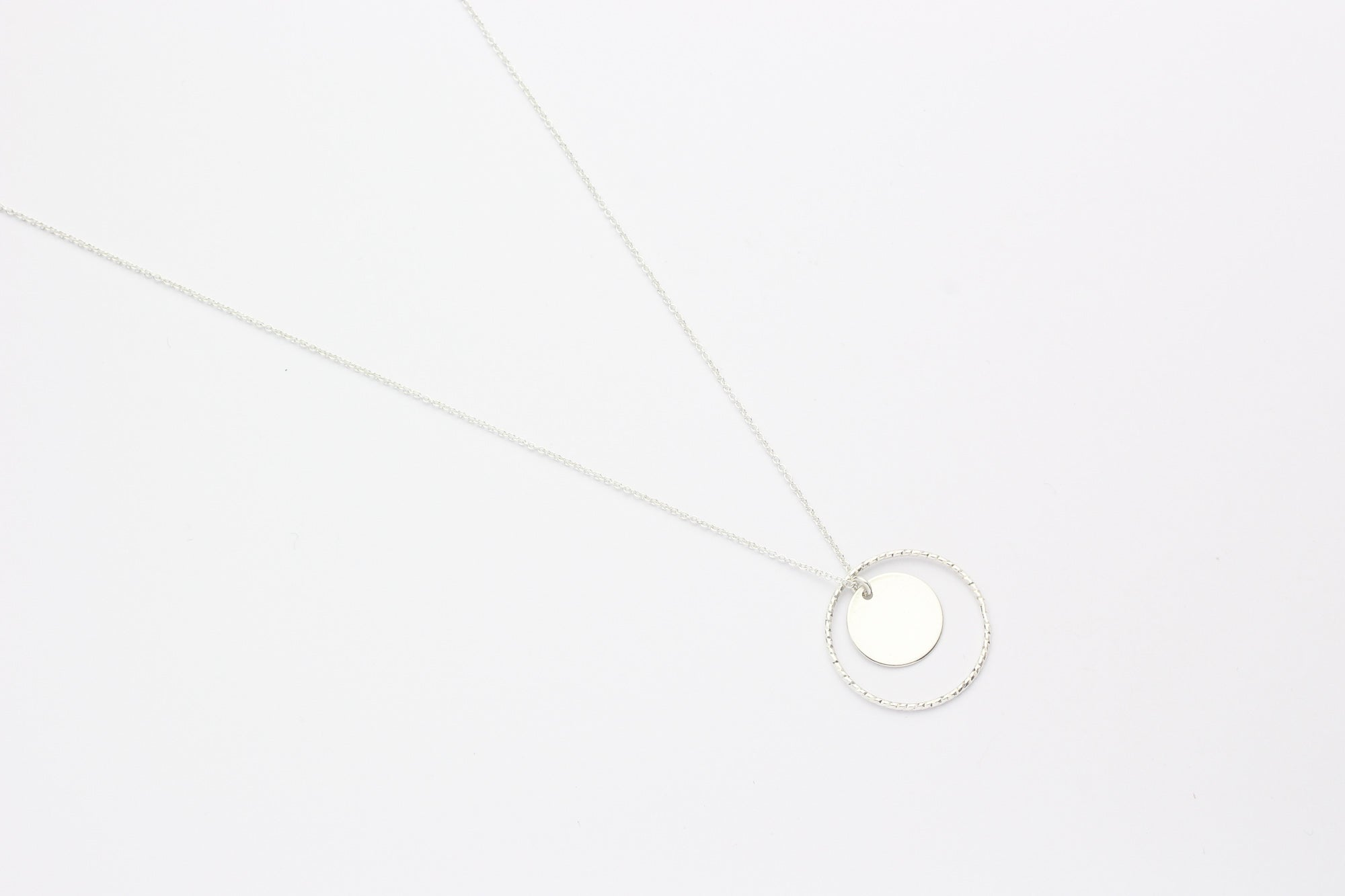 "Kette ""Medium Disc Circled"" silber"
