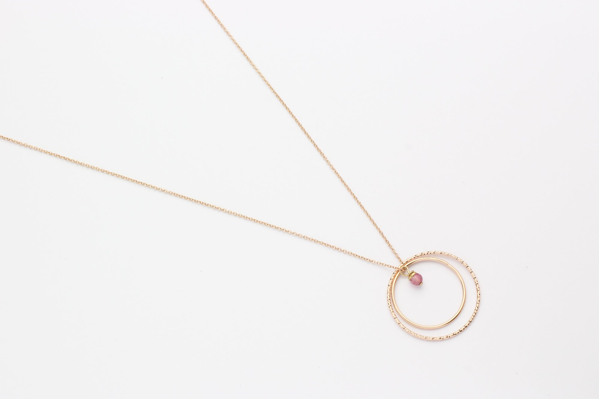 Kette MIXED CIRCLES Sterling Silber rosé vergoldet