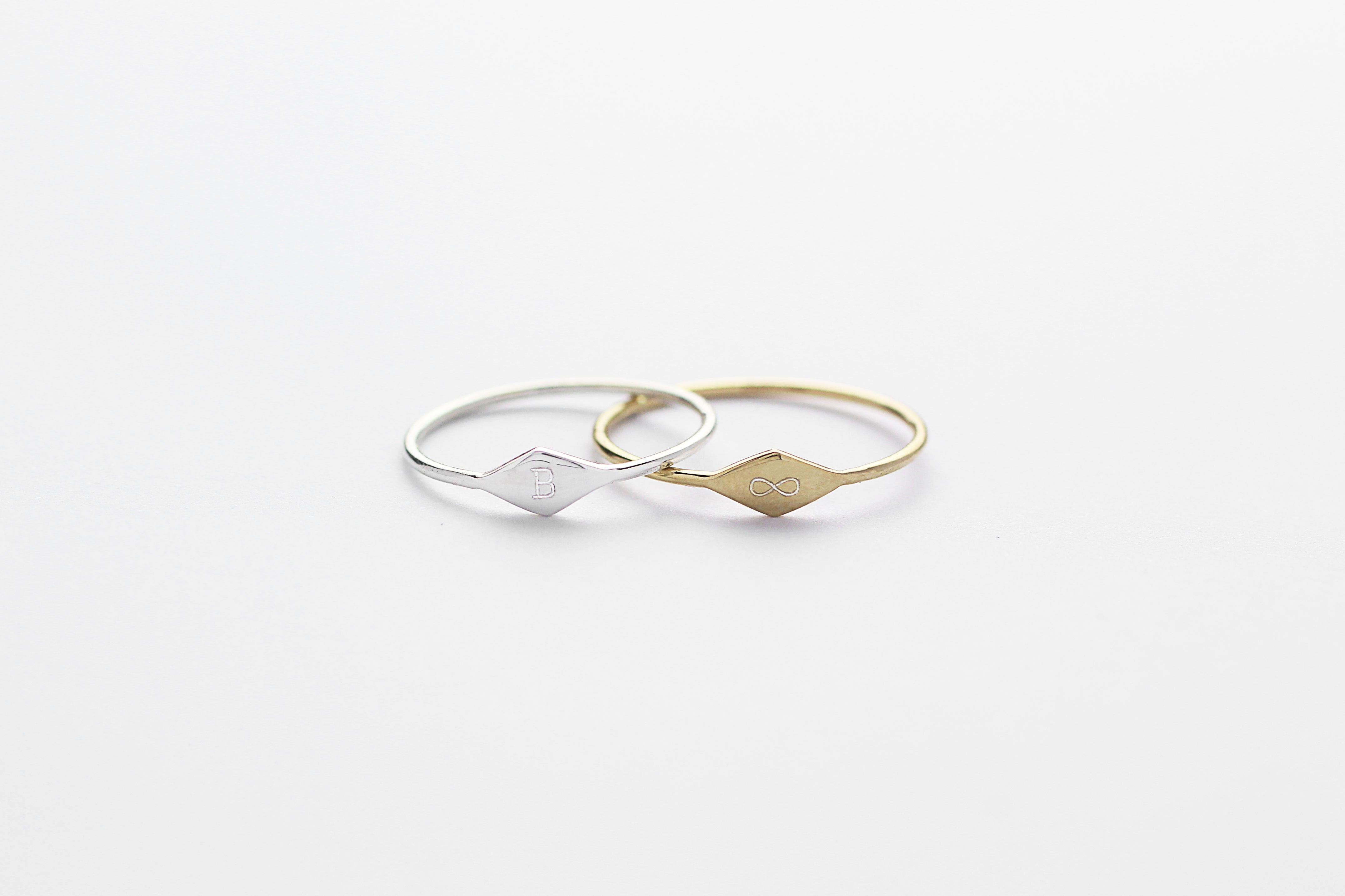 Ring TINY RHOMB Rosé