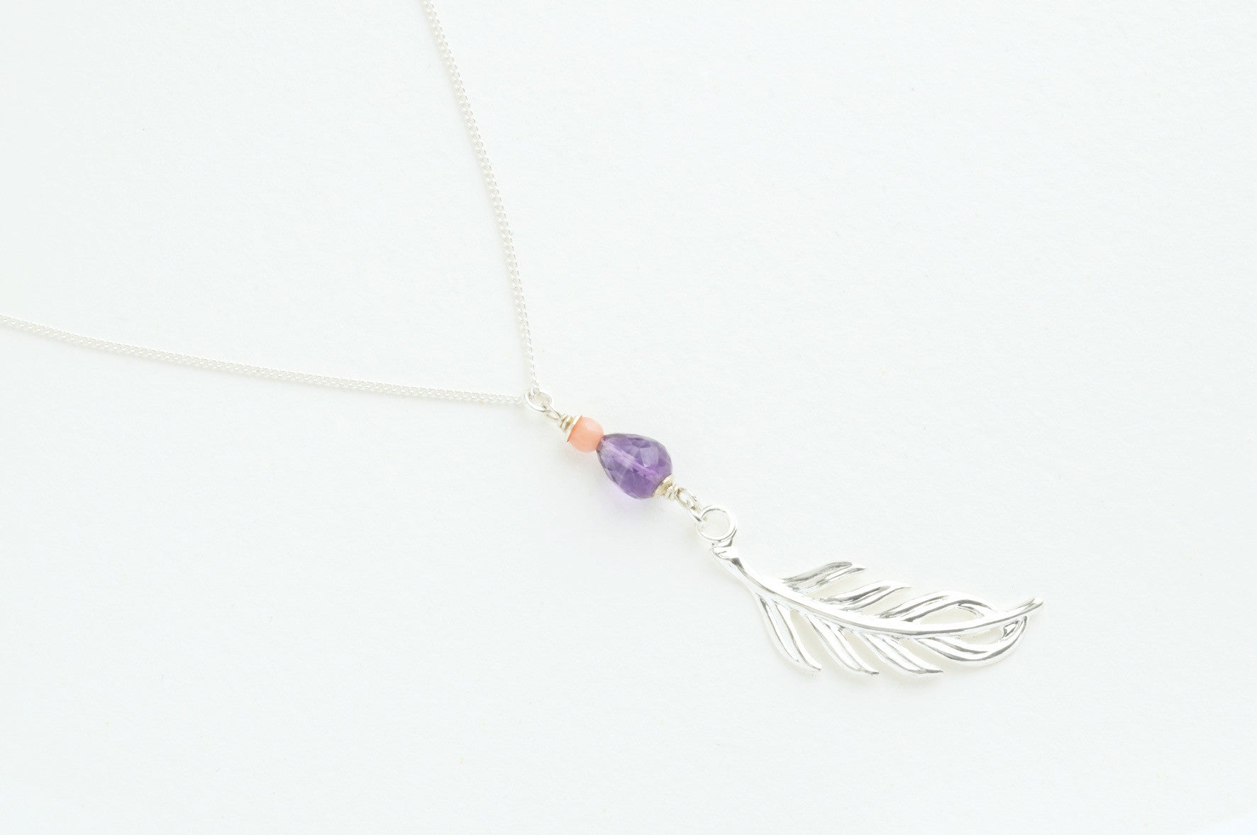 ....Kette FEATHERLEAF small versilbert..Necklace FEATHER LEAF small silver plated....